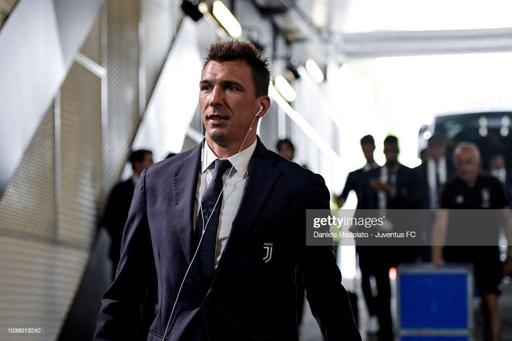Juventus player Mario Mandzukic during the serie A match between Juventus and US Sassuolo at Allianz Stadium on September 16, 2018 in Turin, Italy.
