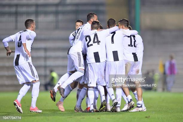 Juventus player Matheus Pereira celebrates 20 goal at Stadio Giuseppe Moccagatta on October 8 2018 in Alessandria Italy