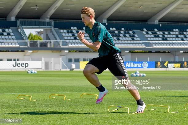 Juventus player Matthijs de Ligt during a training session at JTC on May 20 2020 in Turin Italy