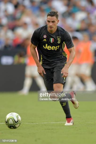 Juventus player Mattia De Sciglio during the Real Madrid v Juventus International Champions Cup 2018 match at FedExField on August 4 2018 in Landover...