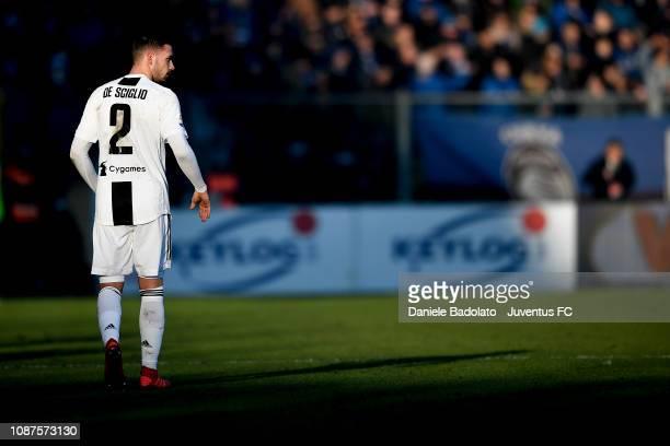 Juventus player Mattia De Sciglio during the Serie A match between Atalanta BC and Juventus at Stadio Atleti Azzurri d'Italia on December 26, 2018 in...