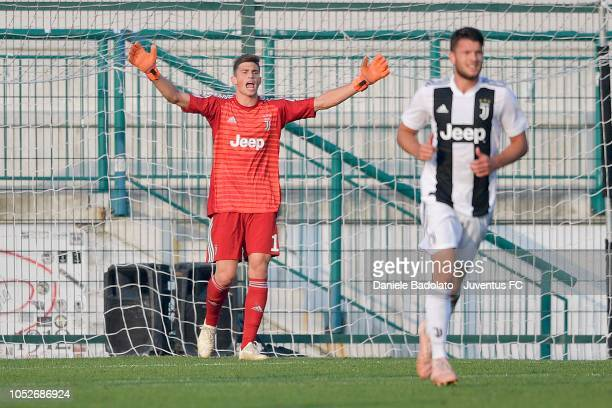 Juventus player Mattia Del Favero during the Serie C match between Juventus U23 and Sienaat on October 21 2018 in Alessandria Italy