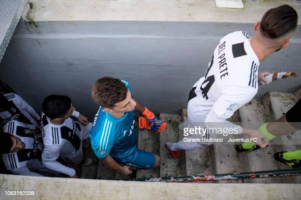 Juventus player Mattia Del Favero during the Serie C match between Juventus U23 and Pontedera at on November 18 2018 in Alessandria Italy