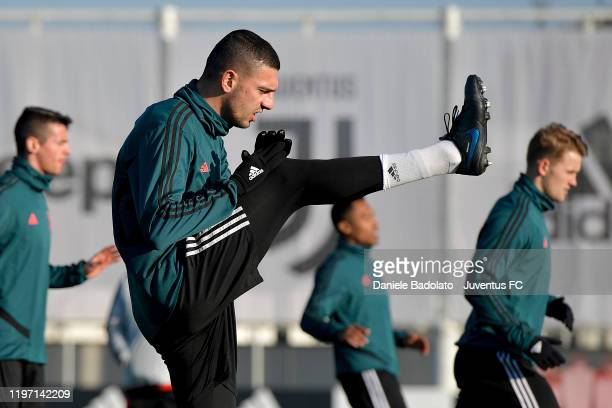 Juventus player Merih Demiral during a training session at JTC on January 02 2020 in Turin Italy