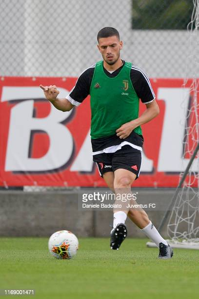 Juventus player Merih Demiral during a training session at JTC on August 19 2019 in Turin Italy