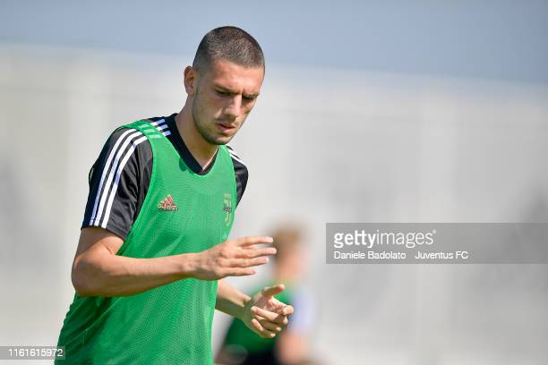 Juventus player Merih Demiral during the afternoon training session at JTC on July 12 2019 in Turin Italy