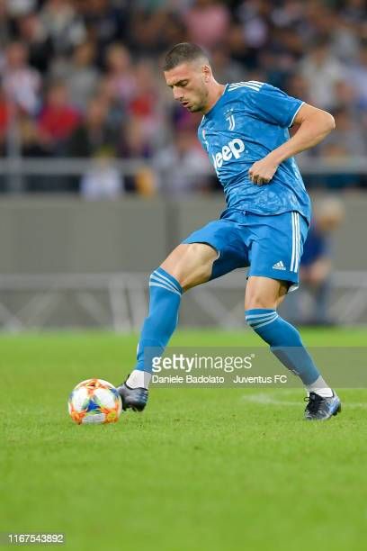 Juventus player Merih Demiral during the Atletico Madrid v Juventus International Champions Cup match on August 10, 2019 in Stockholm, Sweden.