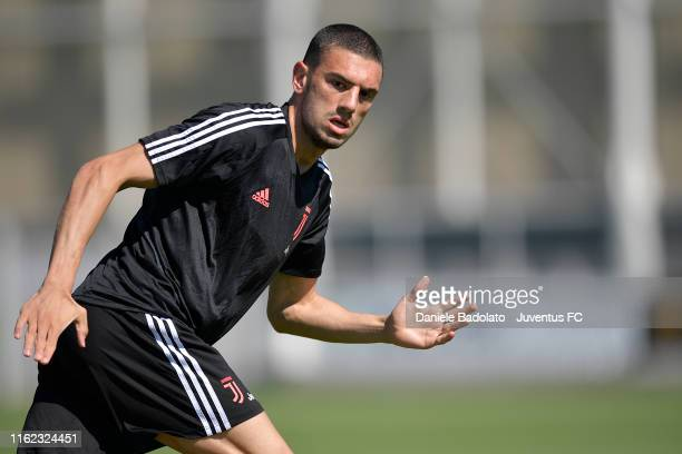 Juventus player Merih Demiral during the morning training session at JTC on July 16 2019 in Turin Italy