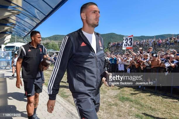 Juventus player Merih Demiral during the Pre-season Friendly match between Juventus A v Juventus B on August 14, 2019 in Villar Perosa near Turin,...