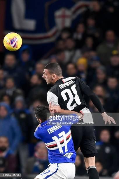 Juventus player Merih Demiral during the Serie A match between UC Sampdoria and Juventus at Stadio Luigi Ferraris on December 18, 2019 in Genoa,...