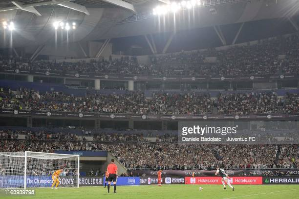 Juventus player Merih Demiral prepares to take a penalty during the International Champions Cup match between Juventus and FC Internazionale at the...