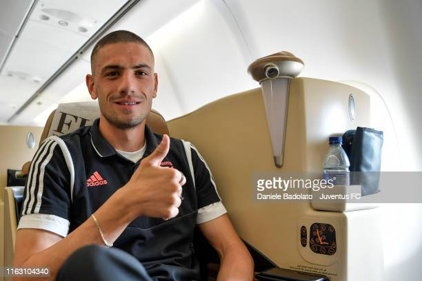 Juventus player Merih Demiral travels to Singapore on July 19, 2019 in Singapore.