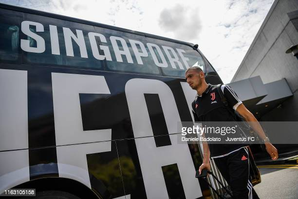 Juventus player Merih Demiral travels to Singapore on July 19 2019 in Singapore
