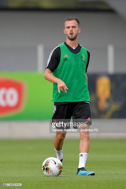 Juventus player Miralem Pjanic during a training session at JTC on August 05 2019 in Turin Italy
