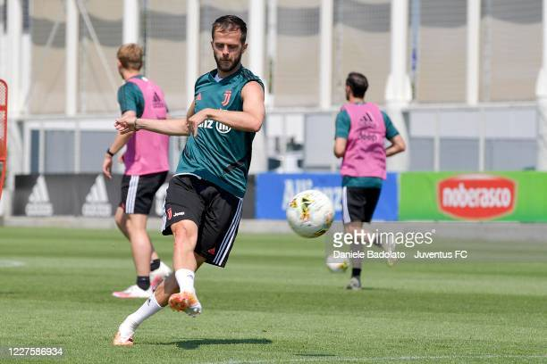 Juventus player Miralem Pjanic during a training session at JTC on May 28 2020 in Turin Italy