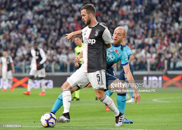 Juventus player Miralem Pjanic during the Serie A match between Juventus and Atalanta BC on May 19 2019 in Turin Italy