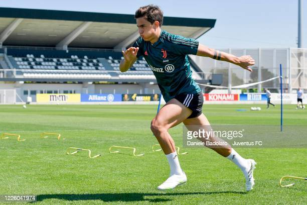 Juventus player Paulo Dybala during a training session at JTC on May 20 2020 in Turin Italy