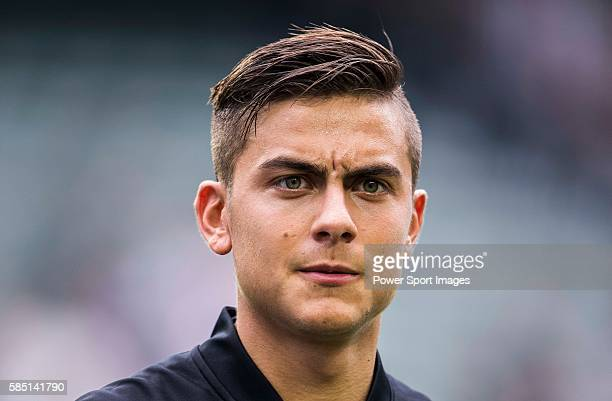 Juventus' player Paulo Dybala poses for a picture before the South China vs Juventus match of the AET International Challenge Cup on 30 July 2016 at...