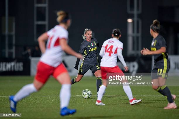 Juventus player Petronella Ekroth during the match between Juventus Women and ASD Orobica on October 31 2018 in Vinovo Italy