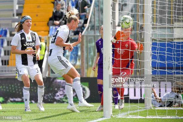 Juventus player Petronella Ekroth scores the 01 goal during the Women Coppa Italia Final match between Juventus Women and ACF Fiorentina Stadio Ennio...