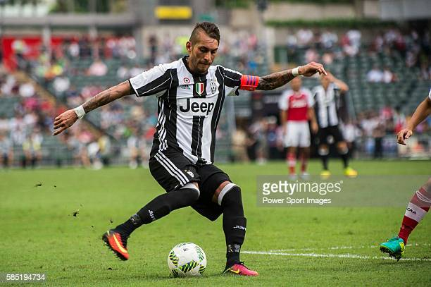 Juventus' player Roberto Pereyra in action during AET International Challenge Cup of the South China vs Juventus match on 30 July 2016 at Hong Kong...