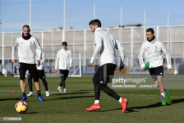 Juventus player Rodrigo Bentancur during a training session at JTC on January 10 2019 in Turin Italy