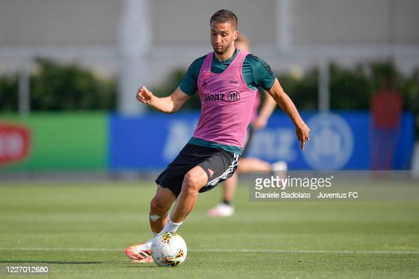 Juventus player Rodrigo Bentancur during a training session at JTC on May 25 2020 in Turin Italy