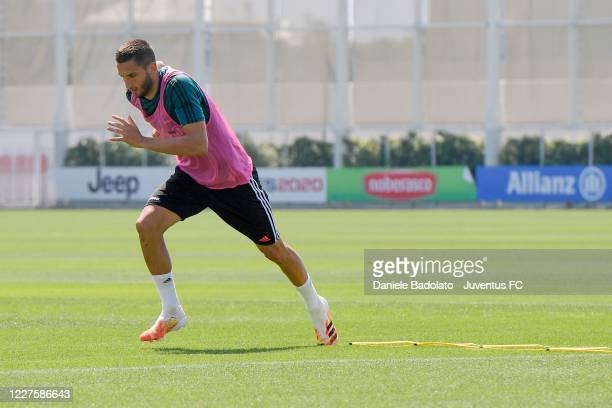 Juventus player Rodrigo Bentancur during a training session at JTC on May 28 2020 in Turin Italy