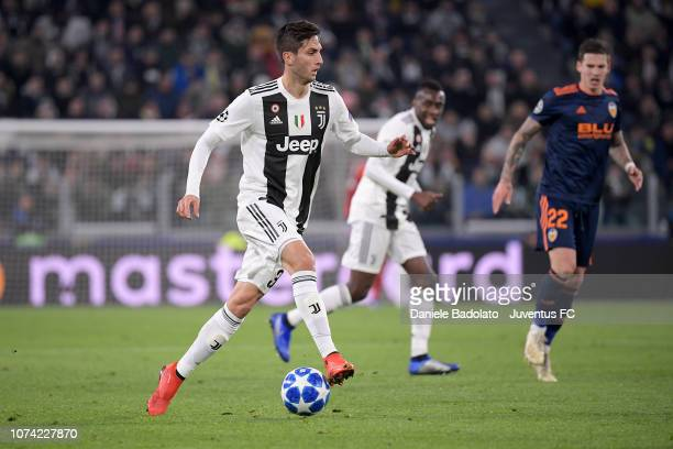 Juventus player Rodrigo Bentancur during the Group H match of the UEFA Champions League between Juventus and Valencia at Allianz Stadium on November...