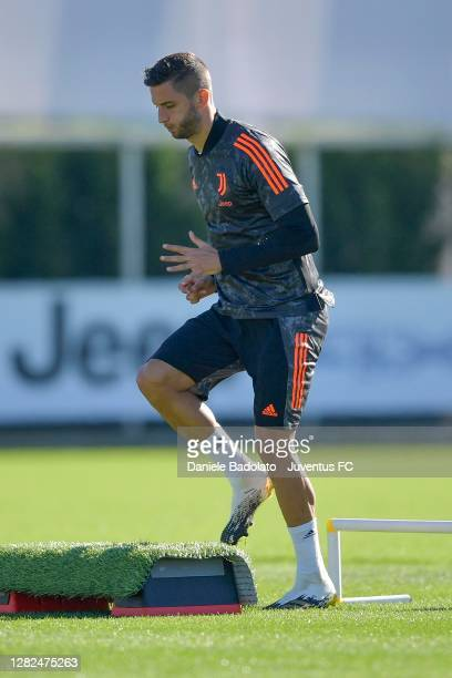 Juventus player Rodrigo Bentancur during the UEFA Champions League training session at JTC on October 27 2020 in Turin Italy