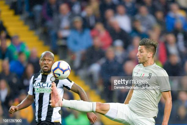 Juventus player Rodrigo Bentancur in action during the Serie A match between Udinese and Juventus at Stadio Friuli on October 6 2018 in Udine Italy