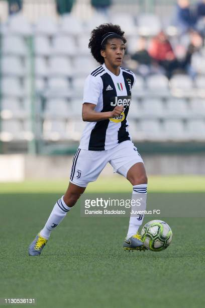 Juventus player Sara Gama during the Women Serie A match between Juventus Women and AC Milan at Stadio Silvio Piola on February 17, 2019 in Vercelli,...