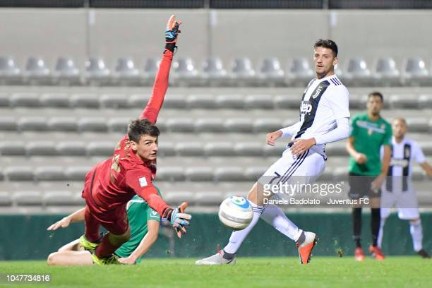Juventus player Simone Emmanuello at Stadio Giuseppe Moccagatta on October 8 2018 in Alessandria Italy