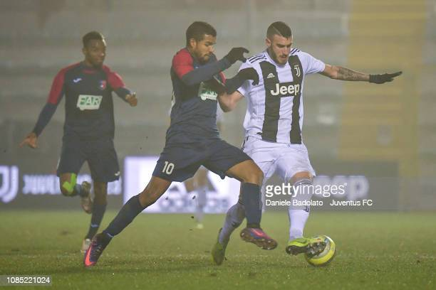 Juventus player Simone Muratore during the Serie C match between Juventus U23 and Gozzano at on December 16 2018 in Alessandria Italy