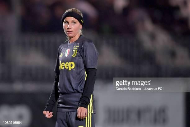 Juventus player Tuija Hyyrynen during the match between Juventus Women and ASD Orobica on October 31 2018 in Vinovo Italy