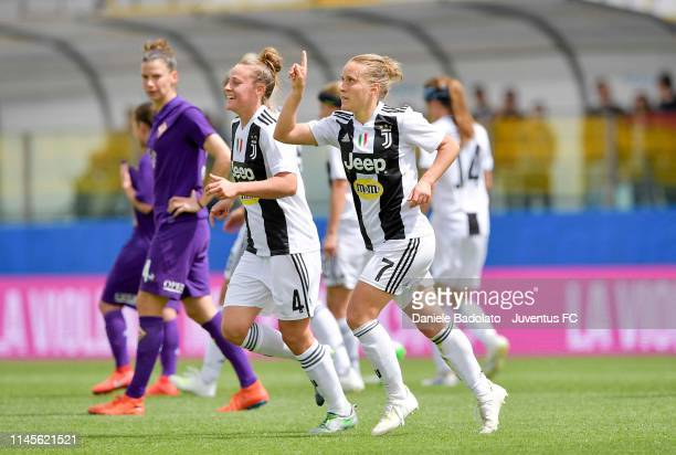 Juventus player Valentina Cernoia celebrates the 02 goal during the Women Coppa Italia Final match between Juventus Women and ACF Fiorentina Stadio...