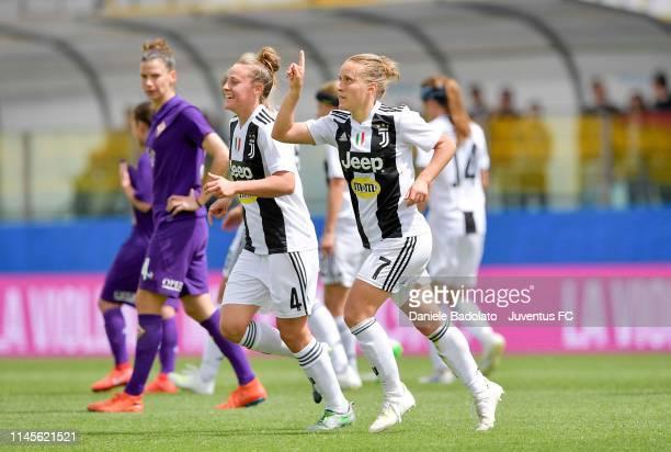 Juventus player Valentina Cernoia celebrates the 0-2 goal during the Women Coppa Italia Final match between Juventus Women and ACF Fiorentina Stadio...