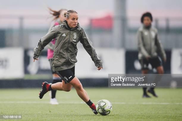 Juventus player Valentina Cernoia during a Juventus Women training session at Juventus Center Vinovo on October 11 2018 in Vinovo Italy