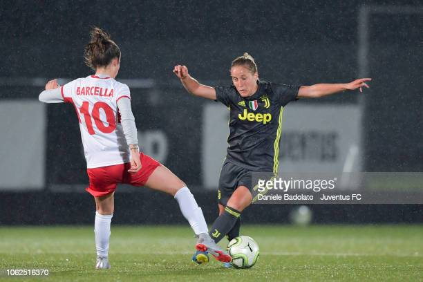 Juventus player Valentina Cernoia during the match between Juventus Women and ASD Orobica on October 31 2018 in Vinovo Italy