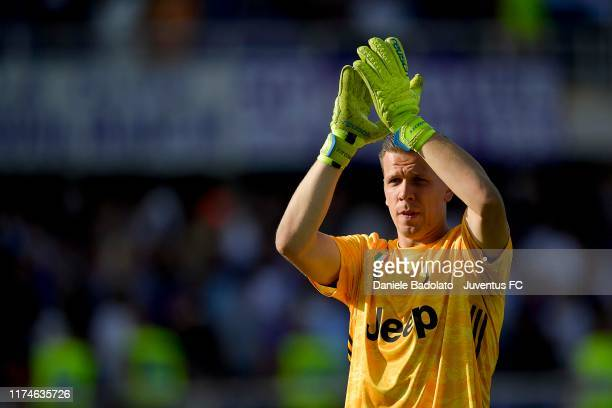 Juventus player Wojciech Szczesny during the Serie A match between ACF Fiorentina and Juventus at Stadio Artemio Franchi on September 15 2019 in...