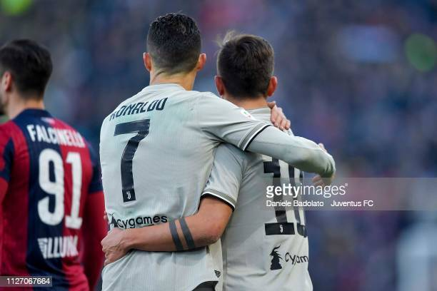 Juventus players Cristiano Ronaldo and Paulo Dybala during the Serie A match between Bologna FC and Juventus at Stadio Renato Dall'Ara on February 23...