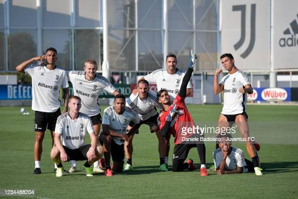 Juventus players Danilo, Matthijs de Ligt, Dejan Kulusevski, Alex Sandro, Leonardo Bonucci, Mattia De Sciglio, Mattia Perin, Cristiano Ronaldo,...