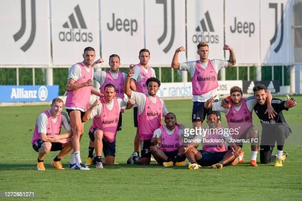 Juventus players Dejan Kulusevski, Merih Demiral, Leonardo Bonucci, Arthur, Mattia De Sciglio, Weston McKennie, Douglas Costa, Alex Sandro, Giacomo...