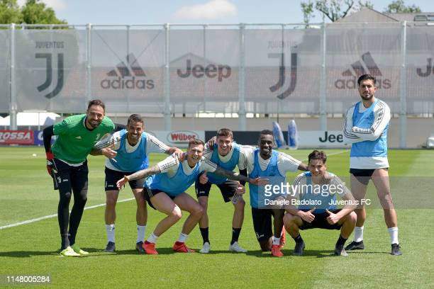Juventus players during a training session at JTC on May 09 2019 in Turin Italy