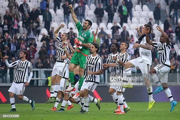 Juventus' players Juventus' midfielder from Italy Claudio Marchisio Juventus' defender from Italy Leonardo Bonucci Juventus' goalkeeper from Italy...