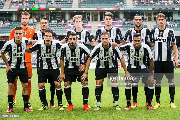 Juventus' players pose for a team picture before the South China vs Juventus match of the AET International Challenge Cup on 30 July 2016 at Hong...