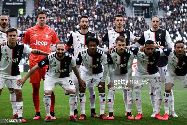 Juventus players pose in order to be photographed before the Serie A football match n24 JUVENTUS BRESCIA on February 16 2020 at the Allianz Stadium...