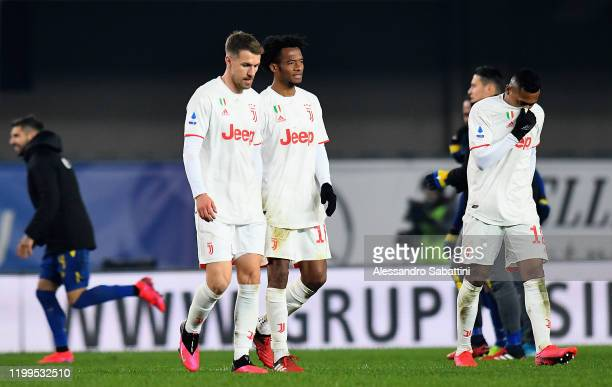 Juventus players shows his dejection during the Serie A match between Hellas Verona and Juventus at Stadio Marcantonio Bentegodi on February 8 2020...
