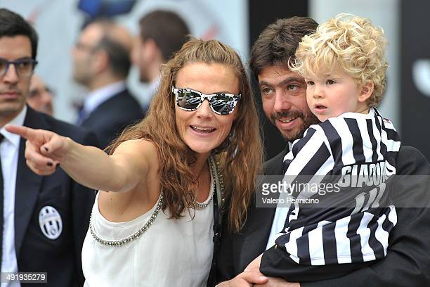 Juventus president Andrea Agnelli looks on during the Serie A match between Juventus and Cagliari Calcio at Juventus Arena on May 18 2014 in Turin...