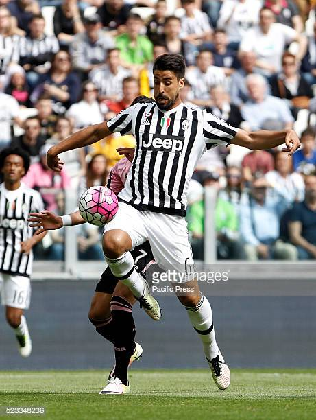 Juventus' Sami Khedira prepares to shoot to score during the Italian Serie A football match between Juventus and Palermo at the Juventus Stadium...